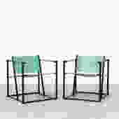FM60 Cube Chairs By Radboud van Beekum for Pastoe in Bright Green