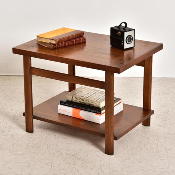 Walnut Lane Vintage 2 Tier Table