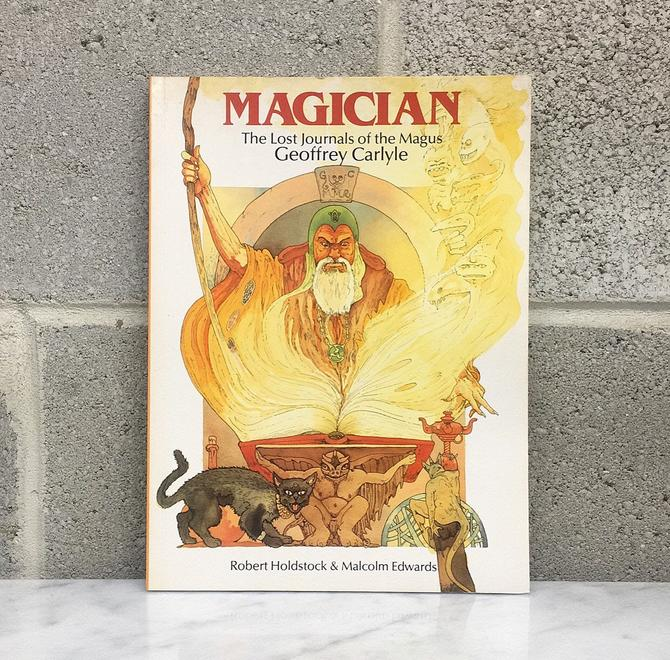 Vintage Magician Book Retro 1980s The Lost Journals of the Magus Geoffrey Carlyle + Paperback + Dragons World Publishing + Dan Woods by RetrospectVintage215