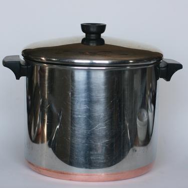 vintage revere ware 8 quart stock pot clinton illinois 1984 copper clad bottom by suesuegonzalas