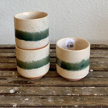 "3"" Pot/Planter-Green Stripe Mateo"