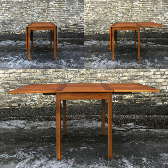 Danish Teak Drop Leaf Dining Table