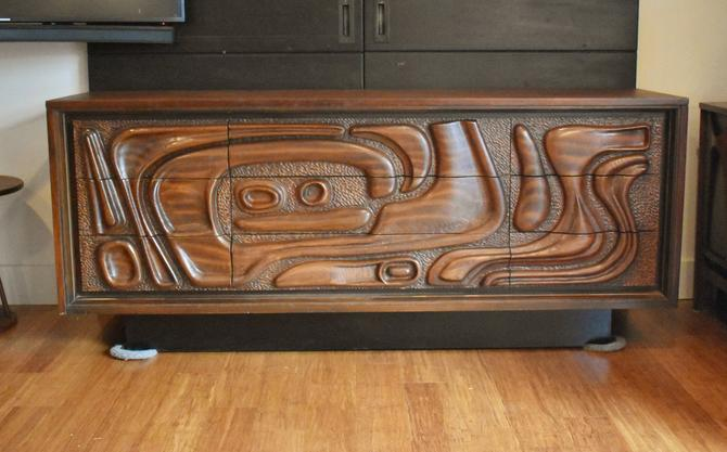 """Newly-restored Pulaski """"Contour 70s"""" credenza/buffet/sideboard by MidCenturyClever"""