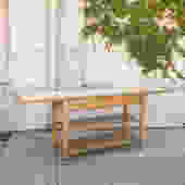 Vintage Oak Rolling Kitchen Utility Table