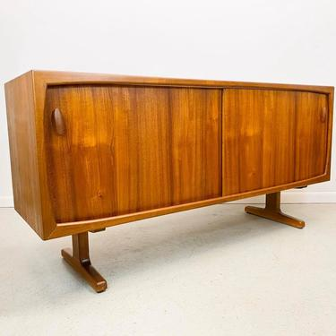 mid century Danish modern teak credenza media cabinet by Dyrlund by AtomicJunkiesGallery
