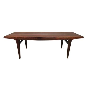 Vintage Danish Mid Century Modern Rosewood Coffee Table by Johannes Andersen for Cfc Mobler by AymerickModern