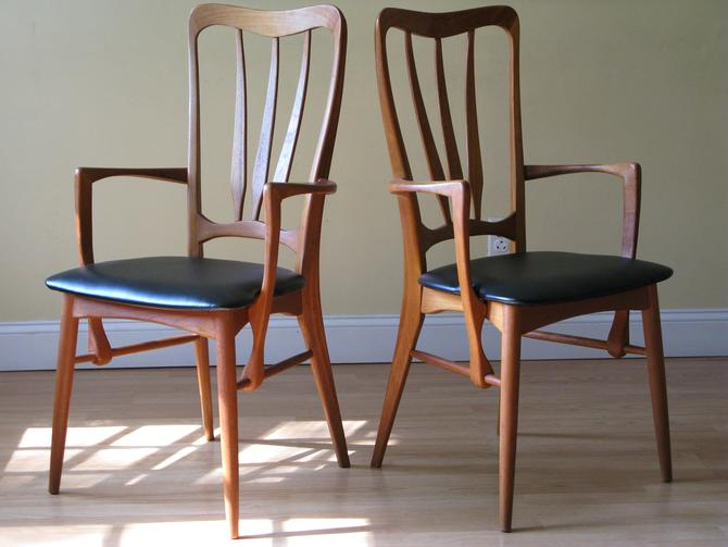 Set of 2 Koefoeds Hornslet Ingrid Danish High-back dining chairs with arms (armchairs) (upto 8 Maching Side Chairs Available) by ASISisNOTgoodENOUGH