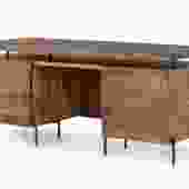 """Raffael"" Desk in Antique Brown"