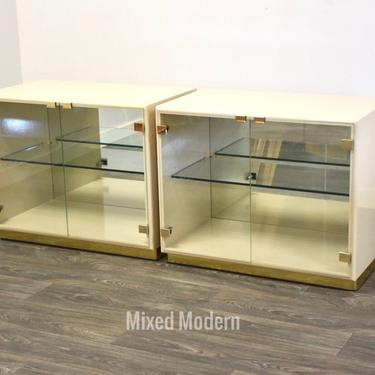Ivory Thayer Coggin Glass Cabinetry Designed by Milo Baughman by mixedmodern1
