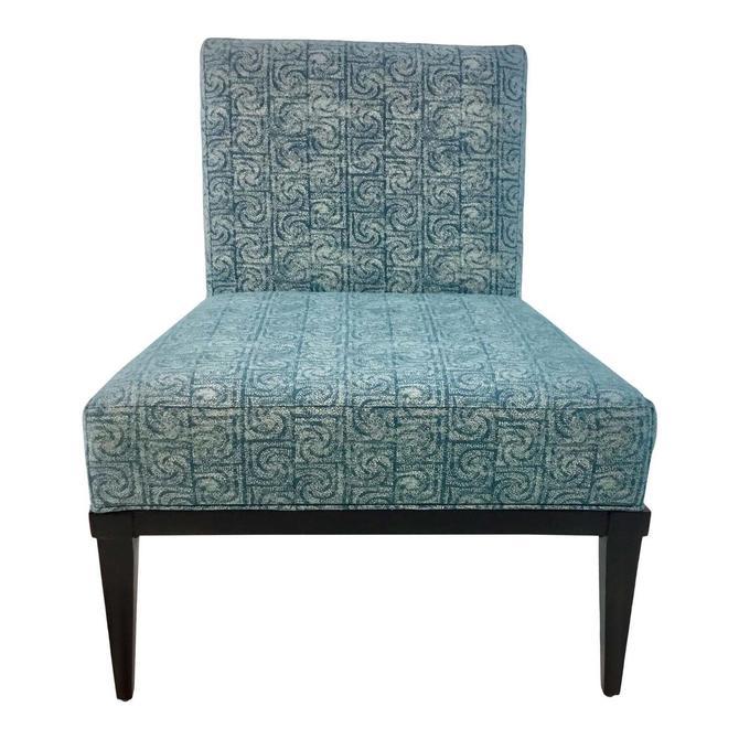 Modern Kravet Blue Milton Slipper Chair