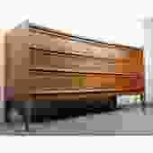 Radiant Slick MCM Long Dresser Credenza United