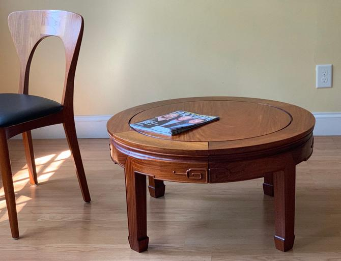 Chinese rosewood huali coffee table, round coffee table, rug table by ASISisNOTgoodENOUGH
