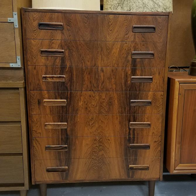 Danish modern rosewood tall dresser