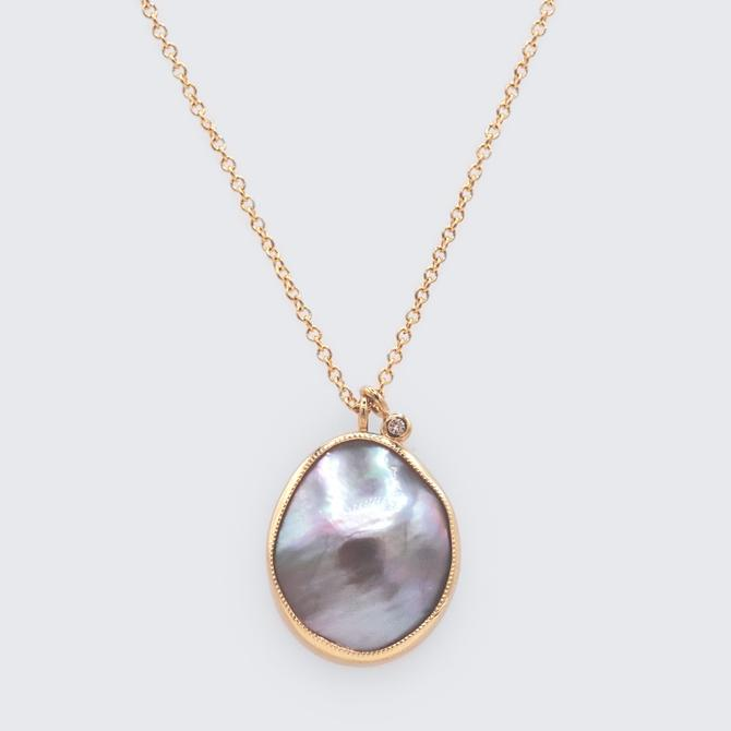 Mabe Pearl Double Drop Necklace