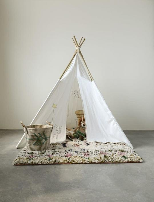Dreamy Child's Canvas Teepee with Sheep