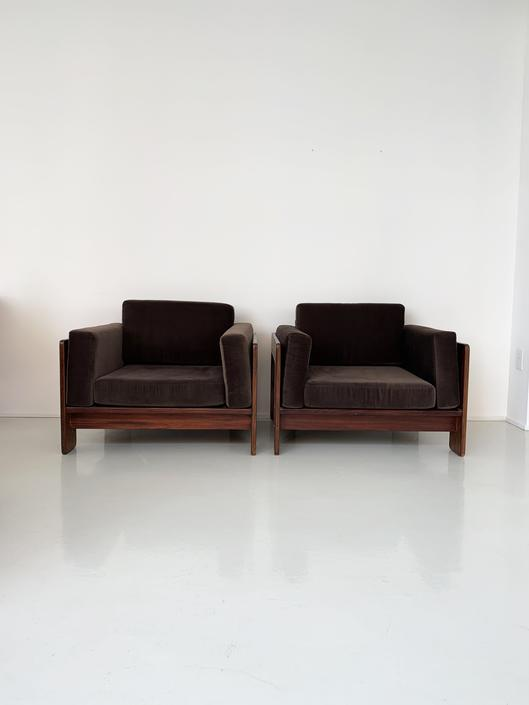 """1960s Rosewoos Tobia Scarpa """"Bastiano"""" Club Chair"""