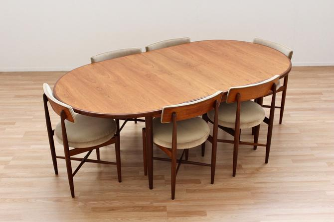 Mid Century Dining Table and Six Chairs by VB Wilkins for G Plan by SputnikFurnitureLLC