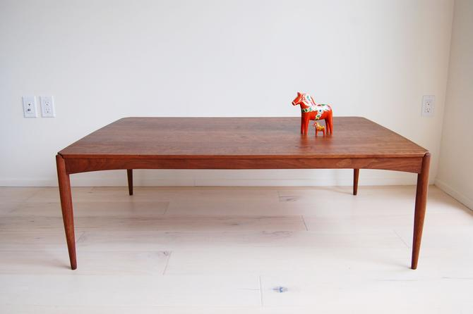 Dux Walnut Large Rectangular Coffee Table Made in Sweden Folke Ohlsson by MidCentury55