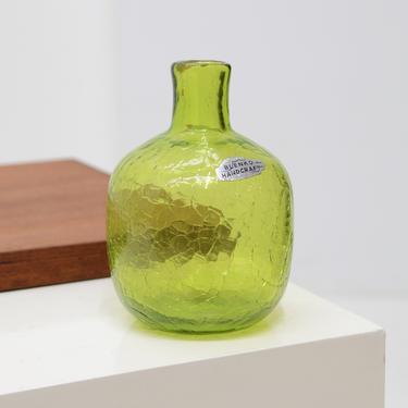 Crackle Art Glass Bud Vase (#6424) - Joel Meyers, Blenko, USA c. 1960s