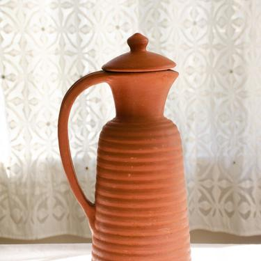 Handmade Terracotta pitcher, Terra-cotta pitcher, water jug, clay jug, farmhouse décor, Handmade Mother's Day Gift, unique pottery by TerracottaTales