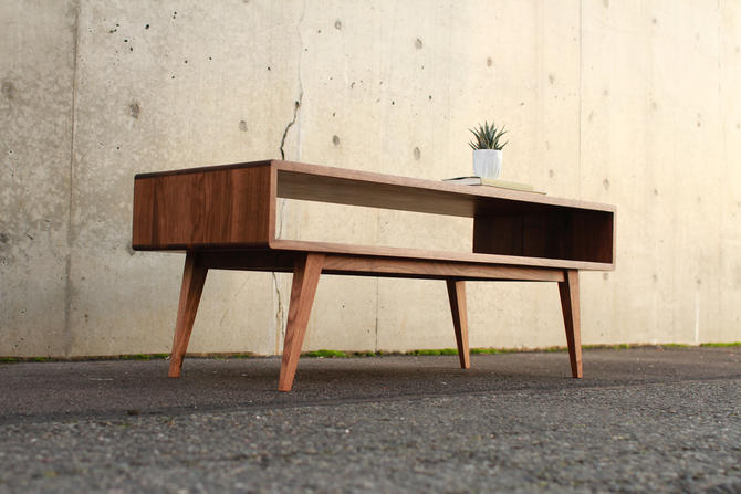 Legard Coffee Table, Solid Wood, Sofa Table (Shown in Walnut) by TomfooleryWood