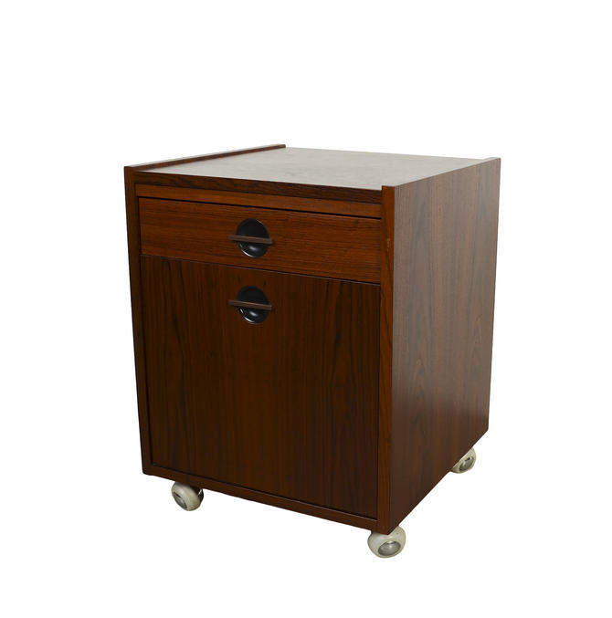 Rosewood File Cabinet Printer Stand Danish Modern Mid Century Modern by HearthsideHome