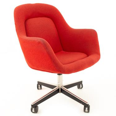 Max Pearson for Knoll Mid Century Red Upholstered Office Desk Chair - mcm by ModernHill