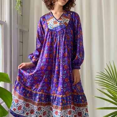70s Indian Silk Dress