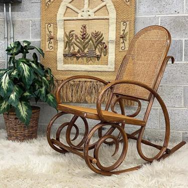 LOCAL PICKUP ONLY ———— Vintage Bentwood Rocking Chair by RetrospectVintage215