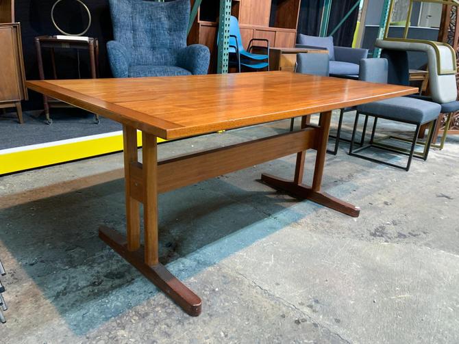 Danish teak trestle dining table