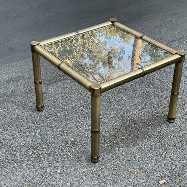 1970s Mastercraft Brass Faux Bamboo Side Table by HollywoodHillsModern