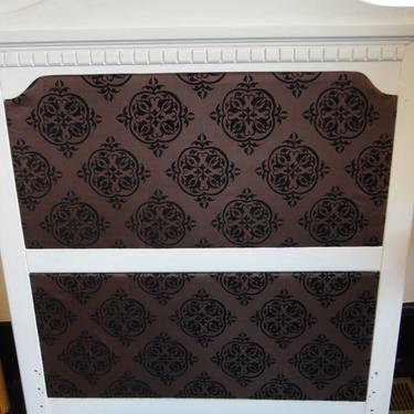 Twin bed headboard.  Painted and re-upholstered.