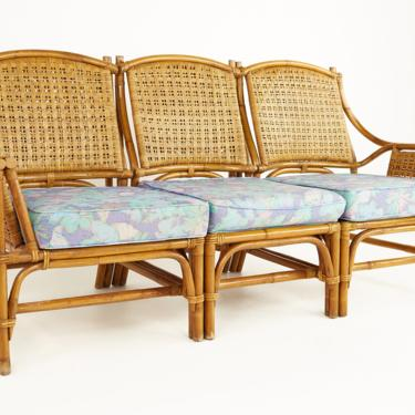 Ficks Reed Style Mid Century Bamboo Rattan 3 Piece Sofa - mcm by ModernHill