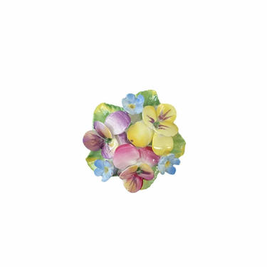 Floral Ceramic Brooch by Artone by InstantVintage78