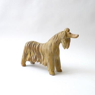Modernist Ceramic Afghan Dog Sculpture by Alfaraz Spain      Hound Dog Purebred AKC by mascarajones
