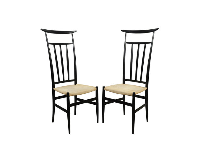 Gio Ponti Style Dining Chair Piazza Originals Set of 4 Mid Century Modern by HearthsideHome