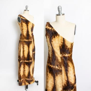 1960s Burlesque Costume Faux Fur Long Dress XS by dejavintageboutique
