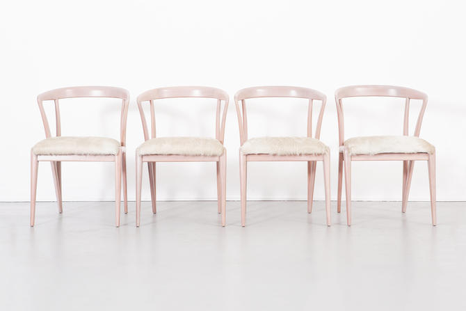 Set of Bertha Schaefer Dining Chairs by MatthewRachman