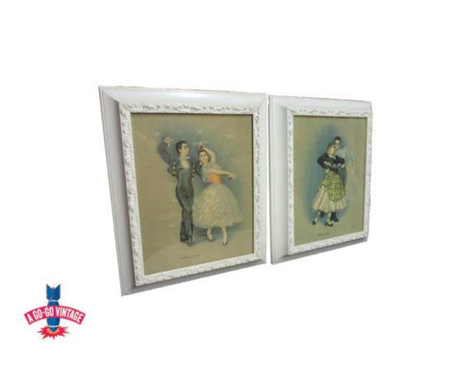 Vintage Flamenco Dancer Prints, Mid Century Spanish Dancers D'Amario by AGoGoVintage