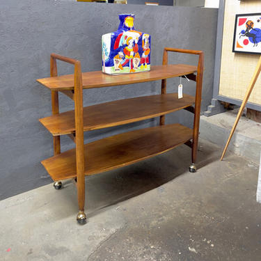 Robsjohn-Gibbings Style Trolley Bar Cart