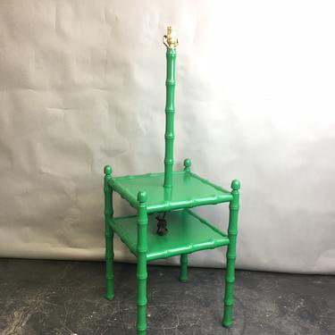 1950's faux bamboo table lamp by CurbsideSalvageLLC