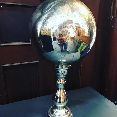 Antique mercury glass Butler's Ball! It was used to survey the progress of dinner.