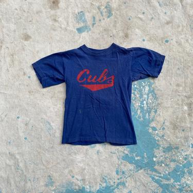 Vintage 1970s Chicago Cub Kids T Shirt by NorthGroveAntiques