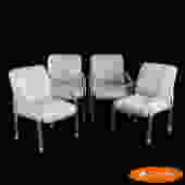 Set of 4 Lucite Arm Chairs by Lion in Frost