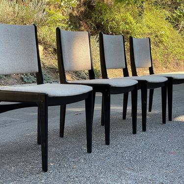 Mid Century Johannes Anderson for Uldum Møbelfabrik Teak Danish Chairs - Set of 4 by HollywoodHillsModern