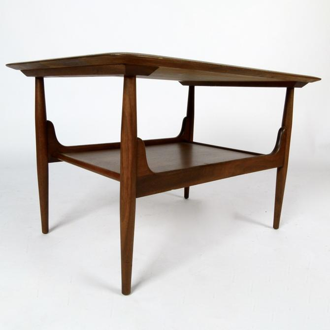 John Keal Side Table in Solid Walnut