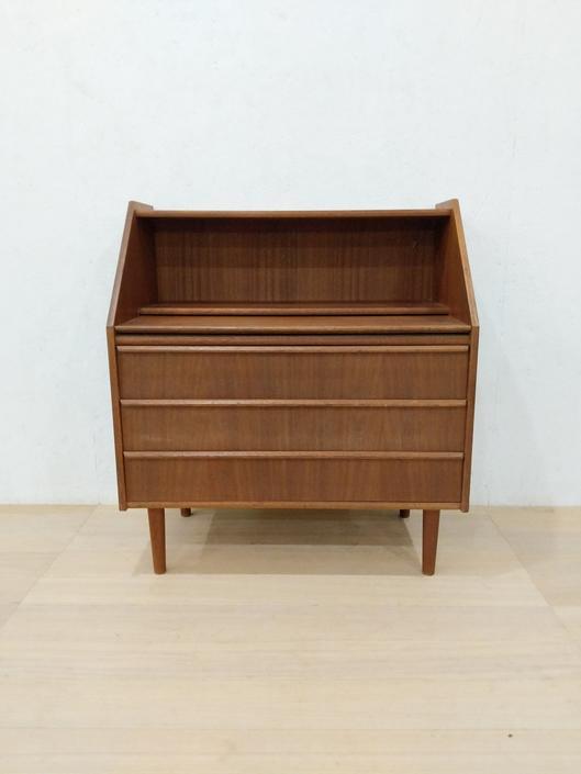 Vintage Danish Modern Teak Small Secretary Desk by FarOutFindsNYC