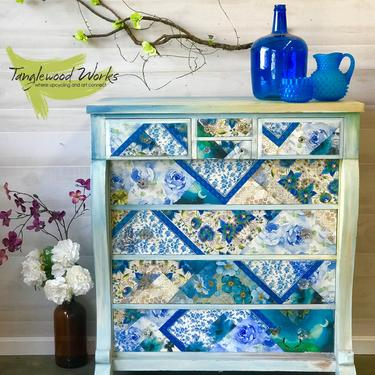 Seaside Blues Quilted Dresser