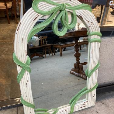 Wrapped in a Bow   Carved Wood Ribbon Mirror