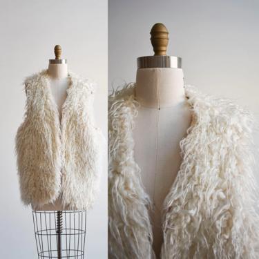 Vintage Faux Mongolian Fur Boho Vest by milkandice